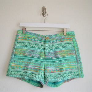 Anthropologie Elevenses Costa Aztec Shorts